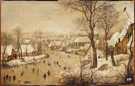 Les Plaisirs de l'hiver (Pieter Brueghel le Jeune - 1564-1638)