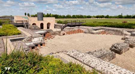Vestiges des thermes gallo-romains de Gisacum