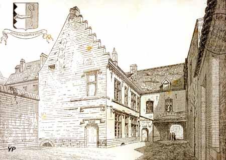 Refuge de l'Abbaye d'Etrun - gravure Dessavary