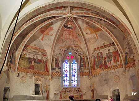Chapelle de Beaumont - Peintures murales classées Monuments Historiques datant du XVe Siècle