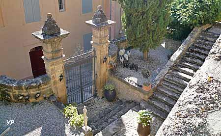 Escalier monumental des jardins du château