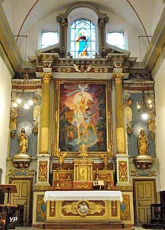 Maître autel  baroque, tableau central