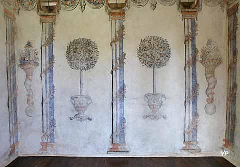 Château de Losmonerie - peintures murales en orangerie d'intérieur (milieu XVIIIe s)