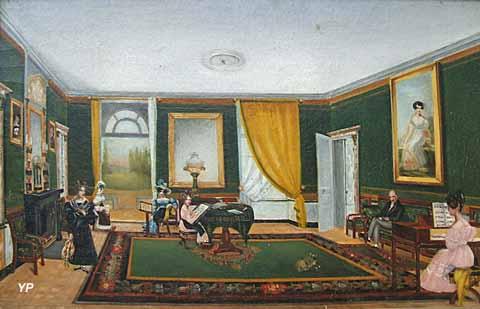Château de Dobert - le salon en 1828