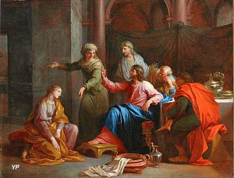 Église Sainte-Marie Madeleine - Le Christ chez Marthe et Marie (Daniel Sarrabat, début XVIIIe s.)