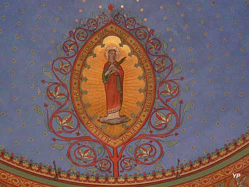 Eglise Sainte-Foy - peinture sur la voûte du choeur