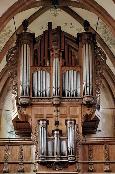 Abbatiale Saint-Étienne - façade de l'orgue Silbermann