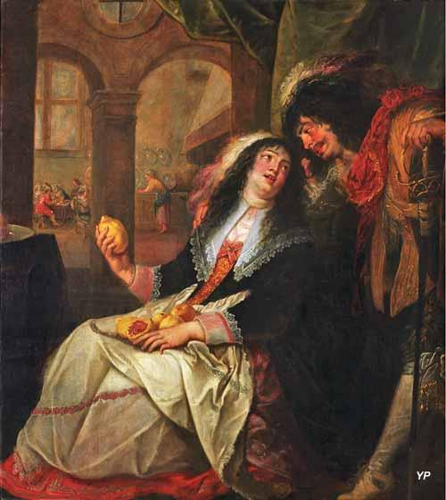 Musée départemental de Flandre - scène galante