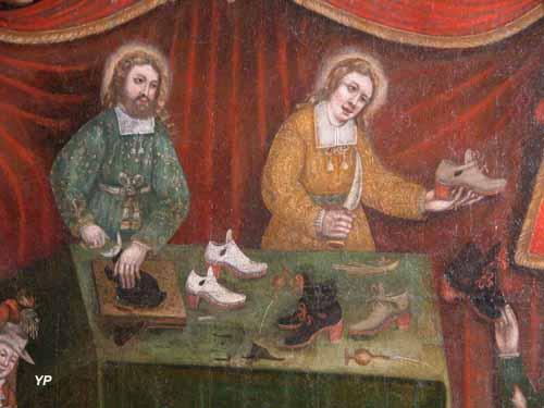 Église Notre-Dame - tableau de confrérie : Saint Crépin et Saint Crépinien