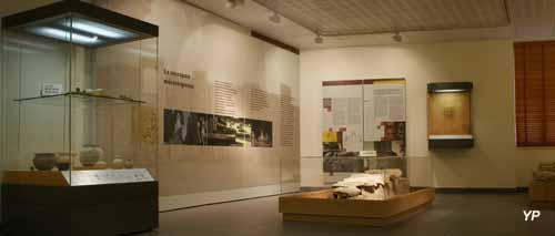 Musée de Civaux - salle mérovingienne