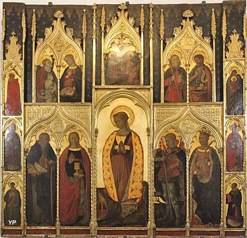 Cathédrale Saint-Léonce - retable de Sainte-Marguerite (Jacques Durandir, XVe s.)