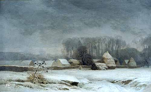 Barbizon, hiver 1855 (Eugène Lavieille)