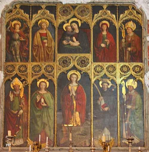 Eglise Sainte-Marguerite - retable de sainte Marguerite (Louis Bréa, vers 1498)