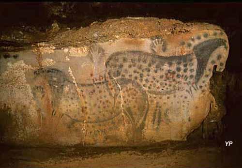 Grotte du Pech-Merle - panneau des Chevaux ponctués