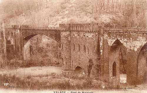 Ancienne voie à minerai de fer - viaduc de l'Ady, dit pont de Malakoff