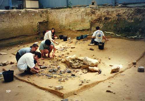 Site archéologique d'Etiolles - chantier de fouilles