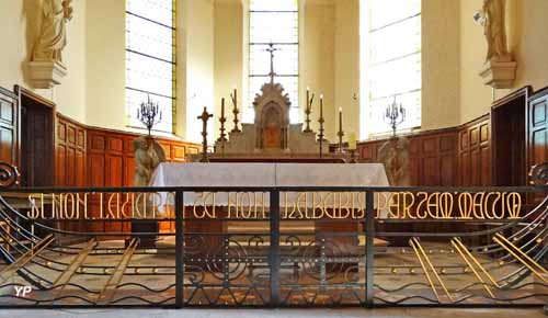 Église Saint-Martin - table de communion forgée