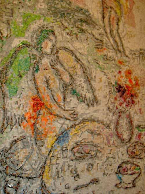 Chapelle Sainte Roseline - le Repas des anges (Marc Chagall)