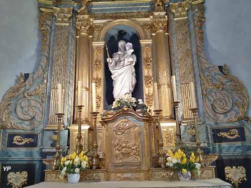 Autel, retable et statue de la Vierge (XVIIe, s.)