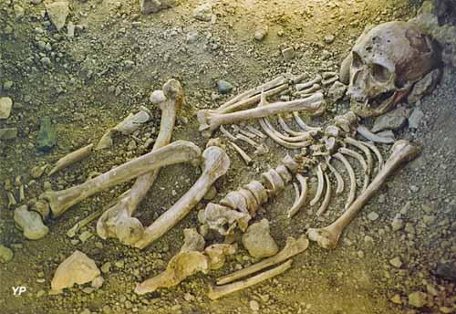 Reconstitution squelette-sépulture homme de la Chapelle aux Saints
