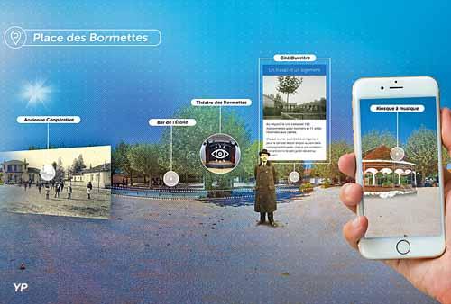 Panorama de la cité ouvrière des Bormettes pour l'application Archistoire