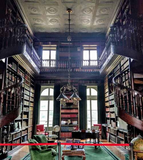 Parc du château de Groussay - bibliothèque