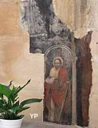 Église Saint-Gervais Saint-Protais - reste des fresques murales