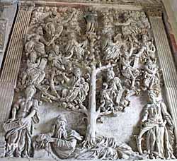 Église Saint-Gervais Saint-Protais - Arbre de Jessé (arbre généalogique de Jésus) (XVIe s.)