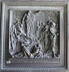 Église de la Madeleine - panneau d'une porte de bronze
