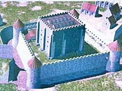 Château Ducal - reconstitution du donjon du XII e sècle