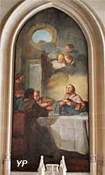 cathédrale Notre-Dame - Les pèlerins d'Emmaüs (Jean-Baptiste Pierre, 1746)