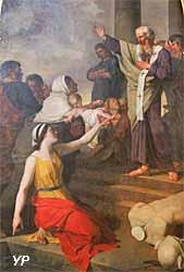 cathédrale Notre-Dame - saint Denis prêchant la loi aux Gaulois (Joseph-Benoît Suvée, 1788)