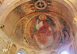 Cathédrale Saint-Cyr-et-Sainte-Julitte - Christ en gloire (fresque du XIIe s.)