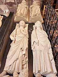 basilique cathédrale Saint-Denis - Charles Martel, Clovis II, Philippe le Bel et Philippe le Hardi