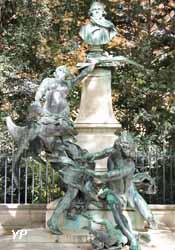 Palais du Luxembourg - fontaine à Eugène Delacroix (Aimé-Jules Dalou, 1890)