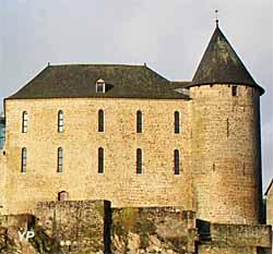 Musée du Château de Mayenne - façade du château, vue de la rivière (Château de Mayenne)