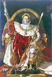 Invalides - Napoléon Ier sur le trône impérial ou Sa majesté l'empereur des Français sur son trône