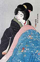 Expo Japon CMN - Femme au brasero par Shinsui Ito - Collection Gaspard de Marval
