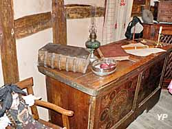 Maison de vigneron, intérieur d'une