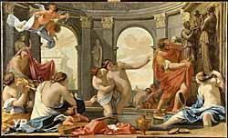 Poliphile au bain avec les nymphes (Eustache Le Sueur - 1616-1655)
