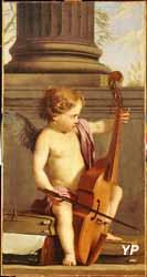 Putto jouant de la basse de viole  (Laurent de La Hyre - 1606-1656)