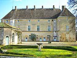 Château de Germolles - vue de la cour intérieure (Christian Degrigny)