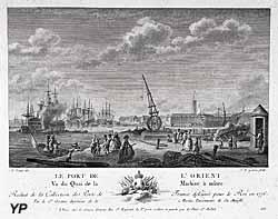 Le port de L'Orient. Vu du Quai de la Machine à mâter