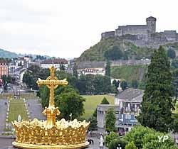 Lourdes et son château depuis le sanctuaire