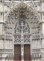Cathédrale Saint-Gatien - portail central