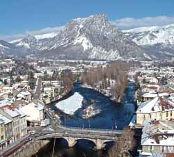 Tarascon-sur-Ariège en hiver (doc. Mairie de Tarascon)