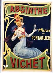 Réclame pour l'absinthe Vichet