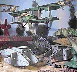 Fin 1917 Cambrai la première grande bataille de chars MarkIV