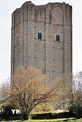 Donjon côté Nord (Association des Amis de la Tour de Château-Chervix)