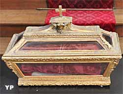 Reliquaire (bois doré, XIXe s.)